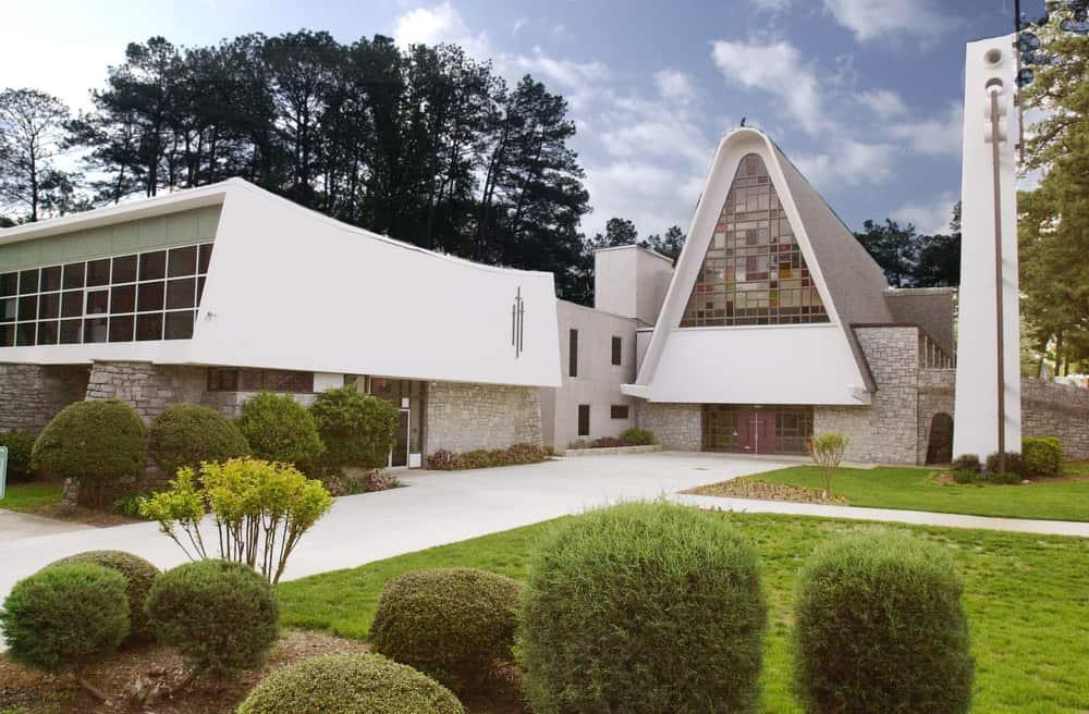 Exterior of the Sanctuary of North Decatur Presbyterian Church in Decatur, Georgia, USA